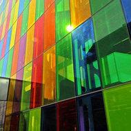 Gekleurde raamfolie transparant