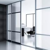 Privacy | Zandstraal effekt | Statisch smalformaat 60 cm / 92 cm_