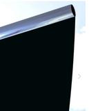 Zonwerend / Verduisterings Raamfolie - Block Out Zilver/Zwart_